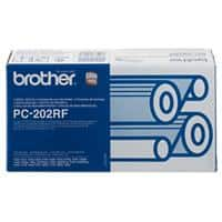 Brother Thermal Transfer Film PC202 Black Pack of 2