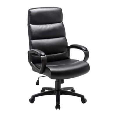 Niceday Basic Tilt Ergonomic Executive Office Chair with Armrest and Adjustable Seat Malaga Black