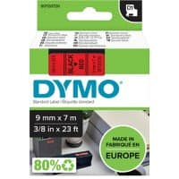 DYMO Labelling Tape 40917 9 mm x 7 m Black , Red