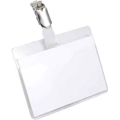 DURABLE Name Badge 8106-19 Transparent 25 Pieces