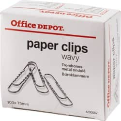 Office Depot Paper Clips Silver 85 mm 100 pieces
