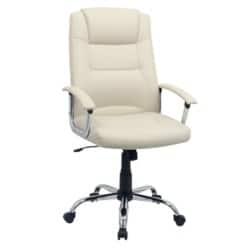 Niceday berlin leather-faced Executive Chair Cream