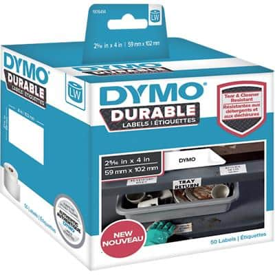 DYMO LW Durable Multi-purpose Labels 1976414 Black on White 59 mm x 102 mm 50 Labels