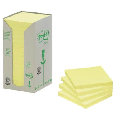 Post-it Sticky Notes 76 x 76 mm Yellow 16 Pieces of 100 Sheets
