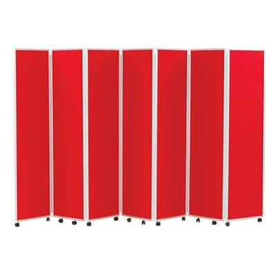 Concertina Screen 609404 Red 560 x 1,800 mm