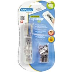 Rapesco Supaclip® #40 See Through Dispenser & 25 Stainless Steel Clips