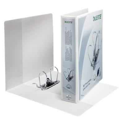 Leitz Premium 180° Presentation Ring Binder Polypropylene A4+ 2 ring 75mm White