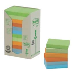 Post-it Recycled Sticky Notes Towers 38 x 51 mm Assorted 24 Pieces of 100 Sheets