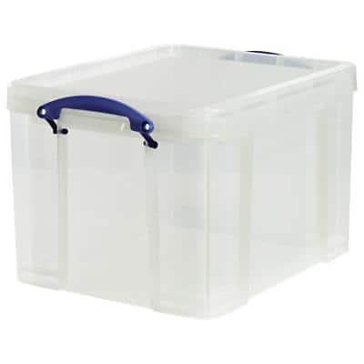 Really Useful Boxes Storage Box 35C 35 L Transparent Plastic 48 x 39 x 31 cm