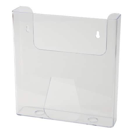 wall mounted transparent a4 brochure holder viking direct uk. Black Bedroom Furniture Sets. Home Design Ideas