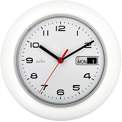 Acctim Wall Clock Date Minder 25 x 4.4 cm White