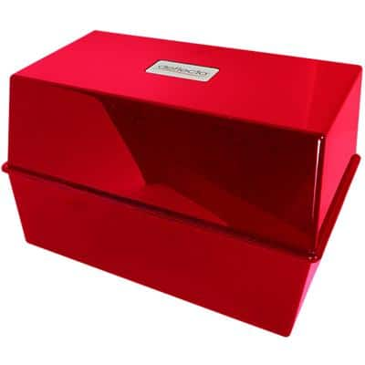 Card Index Box CP012VKRED 250 Cards Red 20.3 x 14.7 x 12.7 cm