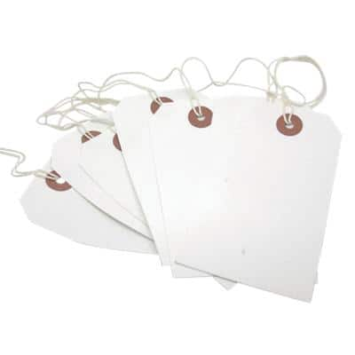 Tags White 6 x 12 cm Pack of 250