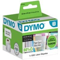 DYMO LW S0722540 Multipurpose Labels, Authentic, Self Adhesive, White 32 mm x 57 mm, 1000 Labels