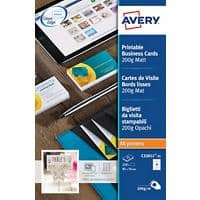 Avery C32011-25 Business Cards 85 x 55 mm 200gsm White 250 Pieces