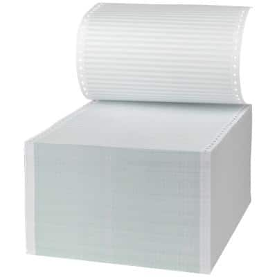 Toplist Computer Listing Paper Ruled 24.1 x 27.9 cm Perforated 60gsm White 2000 Sheets