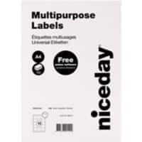Niceday Multi-purpose Labels Right Corners White 1500 labels per pack