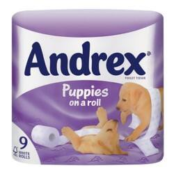 Andrex Toilet Paper 2 ply 9 rolls of 279 sheets