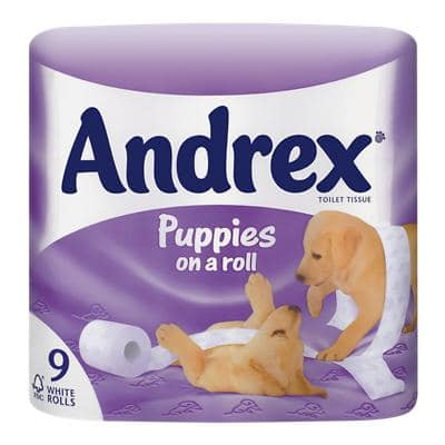 Andrex Toilet Rolls 2 Ply 9 Rolls of 279 Sheets