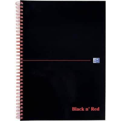 OXFORD Black n' Red Notebook Ruled A4 50 Sheets