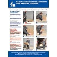 Health & Safety Poster Manual Handling PVC 59.4 cm