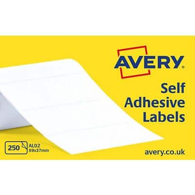 Avery AL02 Address Labels Self Adhesive 89 x 37 mm White 250 Labels