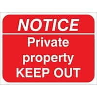 Prohibition Sign Private Property PVC 30 x 40 cm