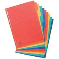 Europa Dividers 10 Part A4 Assorted 10 Part Perforated Card Blank