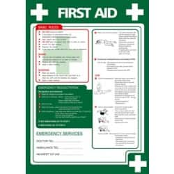 Health & Safety Poster-First Aid