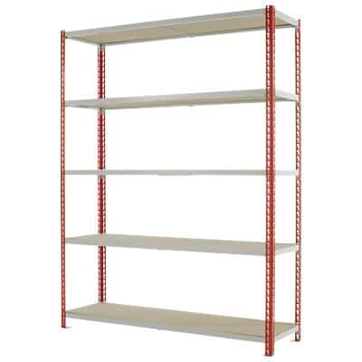 Kwik-Rak Shelving Steel - Red 1980 H x 1500 W x 450 D mm