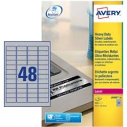 Avery Heavy Duty Labels L6009-20.uk Silver 960 labels per pack