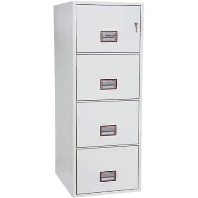 Phoenix Filing Cabinet with Key Lock FS2254K 49L 1405 x 530 x 675 mm White