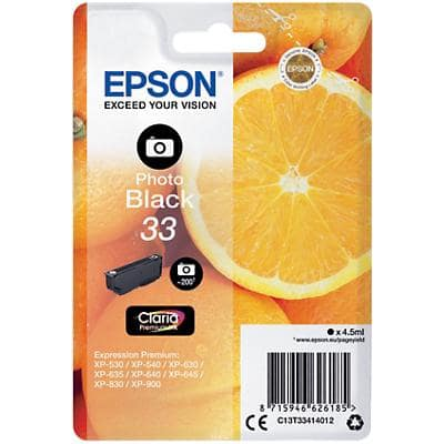 Epson 33 Original Ink Cartridge C13T33414012 Photo Black