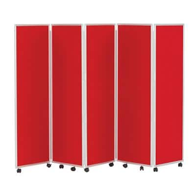 Concertina Screen 609396 Red 560 x 1,500 mm
