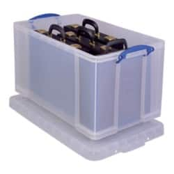Really Useful Boxes Storage Box 84 L Clear polypropylene 38 x 44 x 71 cm