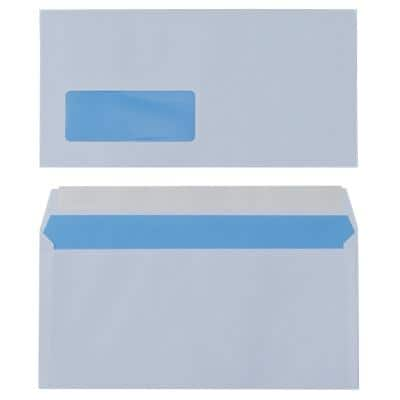 Universe Business Envelopes DL 110 x 220 mm 90 g/m² White Window Peel and Seal 500 Pieces