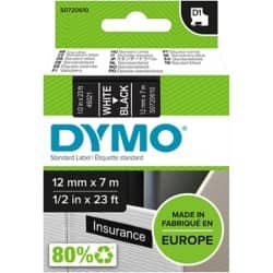 DYMO Labelling Tape 45021 12 mm x 7 m white / black