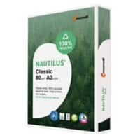 Nautilus Classic 100% Recycled Paper A3 80 gsm White 112 CIE 500 Sheets