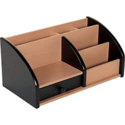 Wooden desk organiser-black