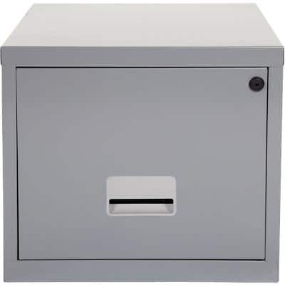 Pierre Henry Filing Cabinet with 1 Lockable Drawer 400 x 400 x 360mm Silver