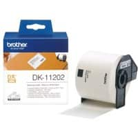 Brother DK-11202 Shipping Labels, Authentic, Self Adhesive, Black Print on White 62 mm x 100 mm, 300 Labels
