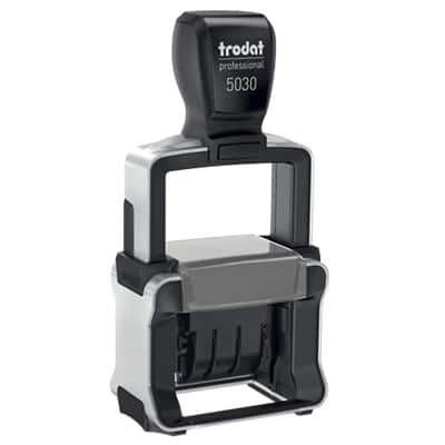 Trodat 5030 Line Dater Self Inking Date Stamp Black