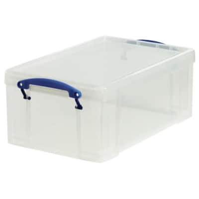 Really Useful Box polypropylene plastic storage box 9 L (155 x 255 x 395 mm H x W x D) - clear