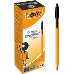BIC Ballpoint Pen Orange Fine Black Pack 20