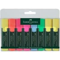 Faber-Castell Assorted colour highlighters round Pack of 8
