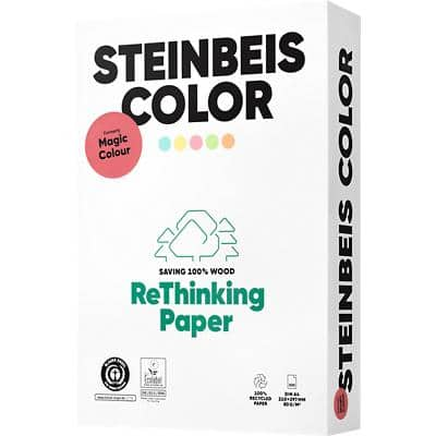 Steinbeis 100% Recycled Magic Pastel Printer Paper A4 80gsm Yellow 500 Sheets
