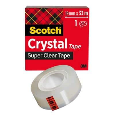 Scotch Crystal Clear Tape 19mm x 33m Transparent