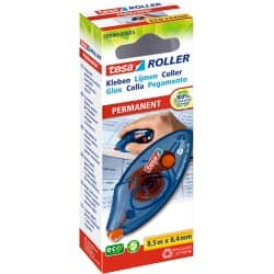 tesa Glue Roller Blue, Red 8.5 m