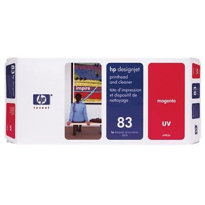 HP 83 Original Printhead and cleaner C4962A Magenta 1