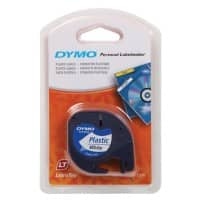DYMO LetraTag Labelling Tape 91201 Black on White 12 mm x 4 m